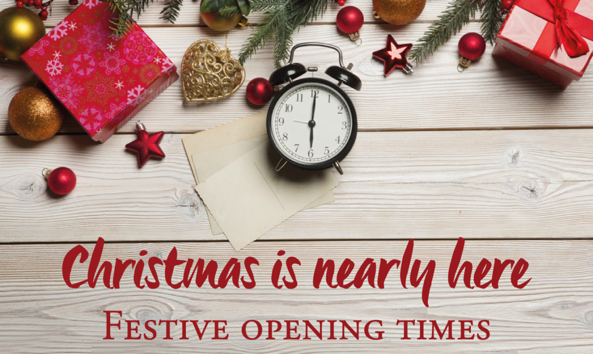 Christmas and New Year Opening Times!